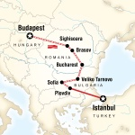 AASU Student Travel Budapest to Istanbul by Rail for Armstrong Atlantic State University Students in Savannah, GA